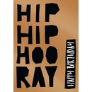 Doppelkarte Artwork Hip Hip Hoo Ray