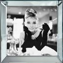 Wandbild 50x50cm Audrey Hepburn Breakfast at Tiffany