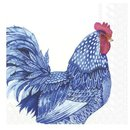 L Serviette Blue Plumage
