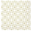 L Serviette Square Pattern gold