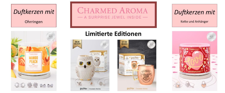 Charmed Aroma Duftkerzen mit Schmuck